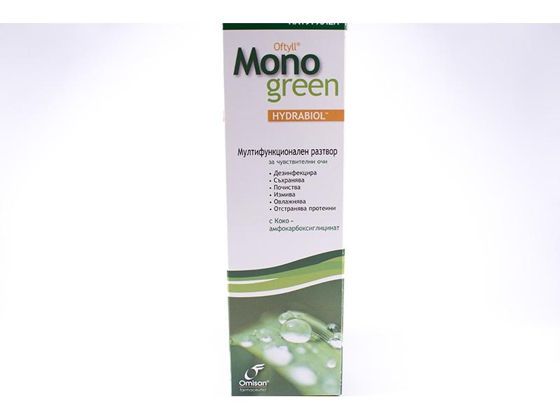 Разтвор за контактни лещи Oftyll Mono Green 500ml.